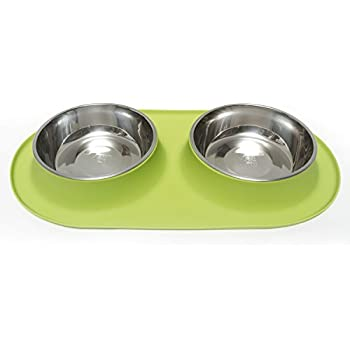 Amazon.com : Messy Mutts Stainless Steel Double Dog Feeder