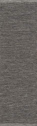 Runner Wool Gray - Momeni Rugs MESA0MES-2SMO2380 Mesa Collection, 100% Wool Hand Woven Flatweave Transitional Area Rug, 2'3
