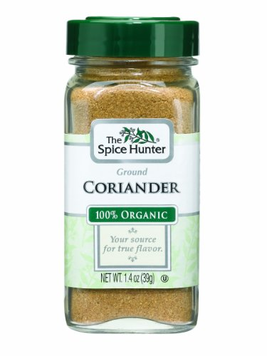 The Spice Hunter Coriander, Ground, Organic, 1.4-Ounce Jar (Ground Spices)