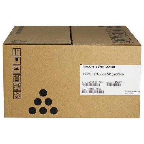 Ricoh 406683 Black AIO Toner Cartridge Type SP 5200HA