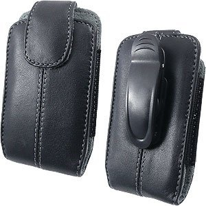 Wireless Solutions Leather Cell Phone Holster (#22) for iPhone 3GS, iPhone 4; LG Chocolate Touch, Optimus S, Optimus T, Phoenix; Motorola Theory; Pantech Caper TXT8035, Pantech Laser P9050, Pantech Link P7040; Samsung Freeform III R380, Galaxy Prevail M820, Gravity Smart T589, Eternity II A597