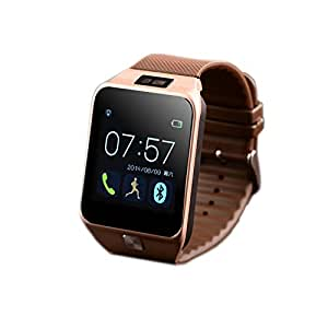 V8 Smartwatch Bluetooth 4.0 Sync Call SMS MP3 Pedometer Sleep Monitor Men Watches Remote Camera for WristWatch for smart Phone 4/4S/5/5S/6 plus Samsung S4/Note 3 HTC Android Phone Smartphones (GOLD)