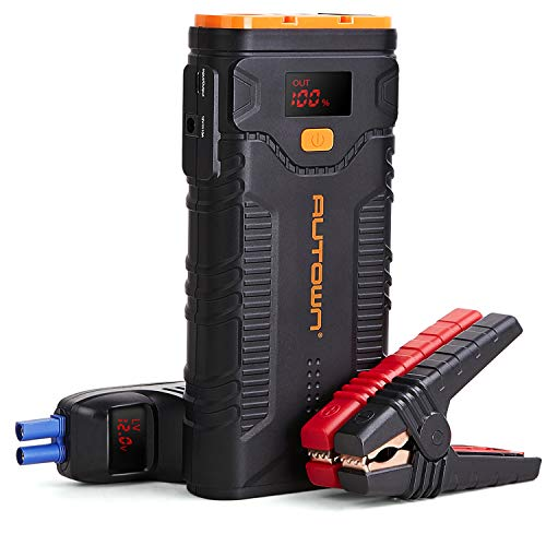 Jump Starter, AUTOWN 2000A Peak 20800mAh Car Jump Starter with Quick Charger, 12V Auto Battery Booster Portable Power Pack with LED Light,LCD Screen and Type-C Cable