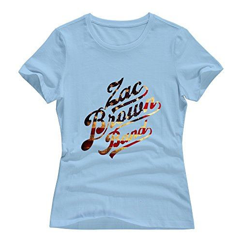 SkyBlue VAVD Lady's Zac Brown Band Short Sleeve T-Shirt Size L