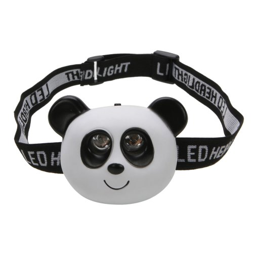 "Olymstore(TM) Lovely 2 LED Animal Headlamp Headlight Head Lamp Light Torch Flashlight for Kid's Camping Night Walking (Panda, 3.27 x 1.57 x 2.36"")"
