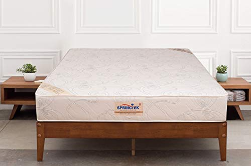 Springtek Ortho Pocket Premium Spring 8 inch King Size Mattress  White, 72x72x8