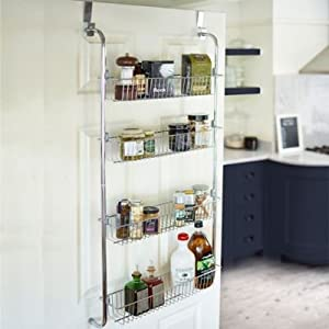 Lakeland 4 tier over door hook hanging food cupboard storage rack - Armoire rangement balai aspirateur ...