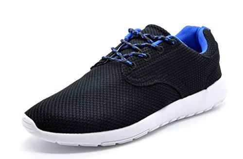 Paires De Rêve 5003 Hommes Nouveau Poids Léger Aller Facile Marche Occasionnel Sportif Confortable Chaussures De Course Sneakers Runpro-noir / Royal