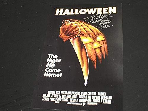 TONY MORAN Signed Halloween 11x17 Poster Autograph Michael Myers A