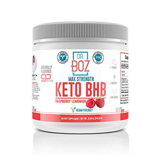Exogenous Ketones Supplement -Best Keto Drink for Weight Loss Powder Energy -Focus- Ketosis for Beginners- Diet Works Fast Women & Men- Dr Approved -Dr Boz Max Strength Keto BHB - Raspberry Lemonade