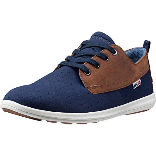 Helly Hansen Bergshaven Zapatos de Cordones Oxford, Hombre, Azul (Azul/Gris 701), 40.5 EU Azul (Azul Navy/Camel 597)
