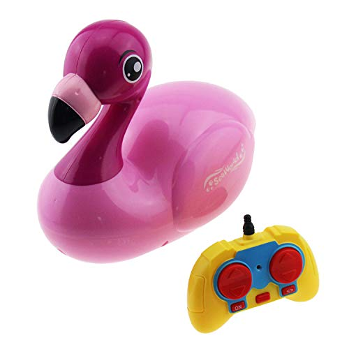 Tipmant Kids Cartoon RC Boat Animal Radio Remote Control Ship Electric Water Toy (Flamingo) ()