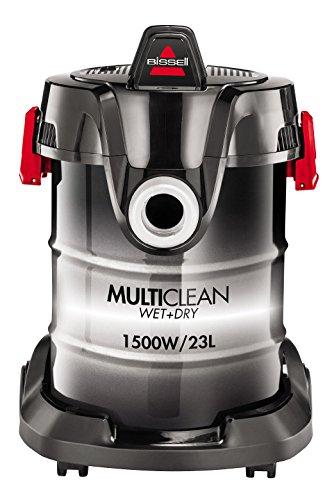 Bissell MultiClean W&D Drum – Limpiador Aspirador, 1500 W, 85 Decibelios, 23 L, color Negro/ Blanco