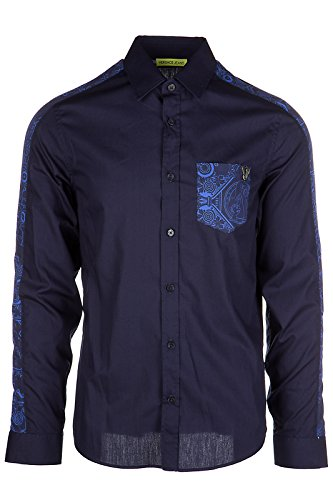 Versace Jeans chemise à manches longues homme print slim blu EU 48 (UK 38) B1GPA615 PUP20524350