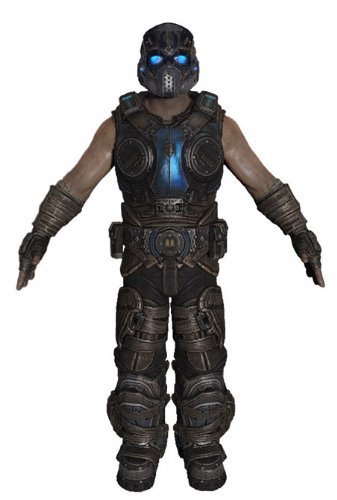 (NECA Gears of War 3 Series 3 COG Soldier with Retro Lancer 7 Inch Action Figure Toys )