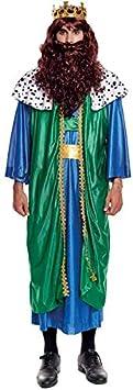 Disfraz Rey Mago Gaspar hombre adulto para Navidad S: Amazon ...