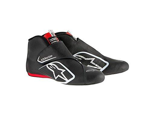 Zapatos Supermono Alpinestars - Navy / White / Red - Size 10.5 - Sfi 3.3 Level 5 - Kangaroo Cuero Black / Red