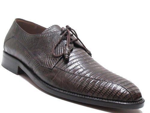 Mezlan Hommes 3020 Lézard Lacent Chaussures Marron