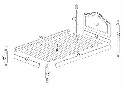Palace 100% Wood Reston Headboard Platform 1434, Size, 12 Optional Trundle, Rail Sold Separately.