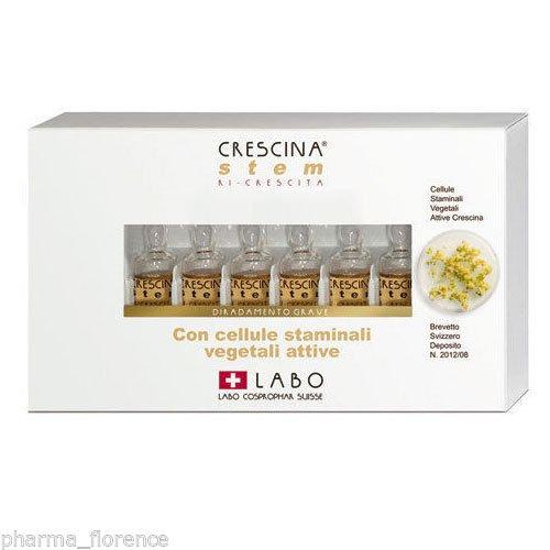 LABO Crescina PURE STEM 100 UOMO 24 FIALE Anticaduta Cellule Staminali Hair Loss