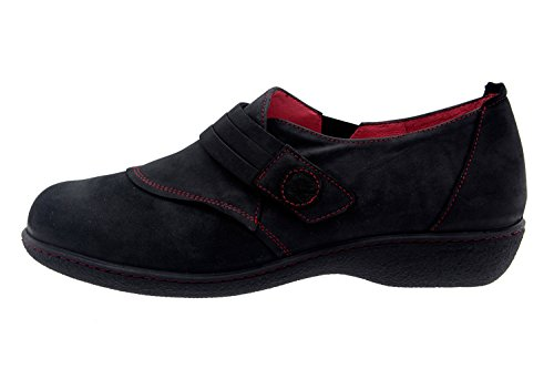 confort 3552 femme amples cuir Noir PieSanto en Chaussure casual comfortables qwHTxAgB