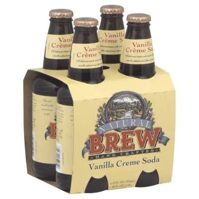 Natural Brew Soda, Vanilla Creme Soda, 6/4/12 Oz by Natural Brew Soda