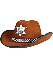 Boland 04107 - kinderhoed Sheriff junior, eenheidsmaat, bruin