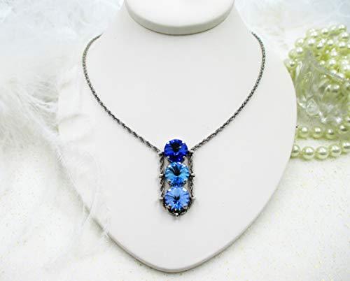 Crystal slider necklace made with Swarovski crystals ()