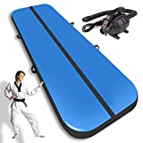AZGO Air Track Inflatable Tumbling Mats for Gymnastics with Electric Pump | for Martial Arts, Training, Outdoor Activities, Beach, Exercise | Suitable for Adults & Kids