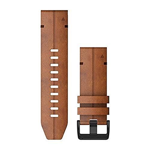 Garmin QuickFit 26 Watch Bands - Chestnut Leather