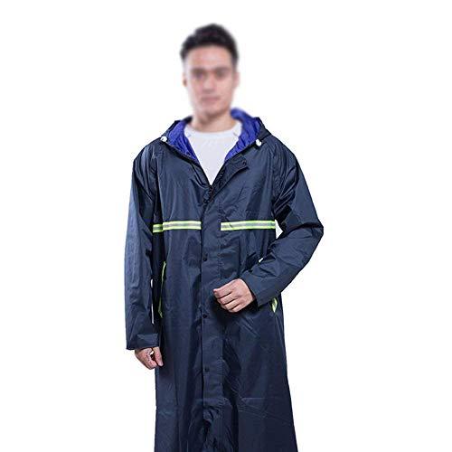 Cappuccio Con Campeggio Giovane Scuro Rain Menntel And Suit Impermeabile Alpinismo Oxford Ad Adatto Doppio Long Women Mennen Blu nz1qnI