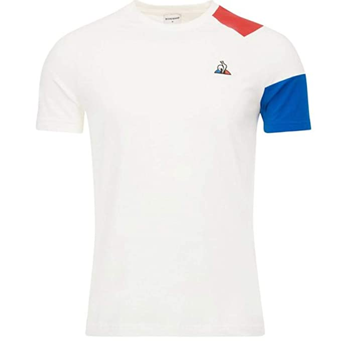 Le Coq Sportif Tri LF BBR N2 SS New Optical White (XL): Amazon.es ...