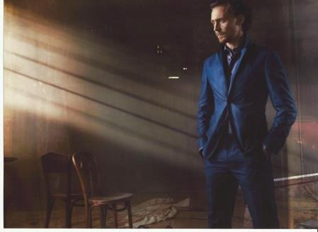 The Avengers 2012 Tom Hiddleston is Loki Candid Blue Suit 8 x 10 Inch Photo
