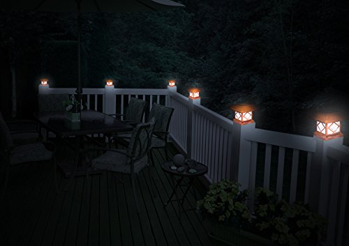 GreenLighting Outdoor Summit Solar Post Cap Light for 4x4 Wood Posts 12 Pack (Brushed Copper) by GreenLighting (Image #5)