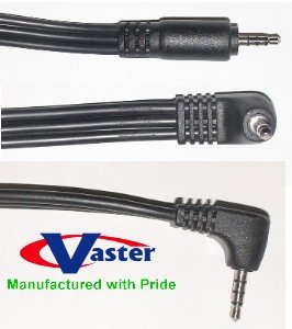 AV Connection Cable, 3.5mm Stereo 4 Level Plug to Plug, 25 Ft, 10 PCS / PACK by Vaster