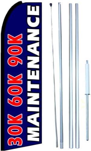 Partial Sleeve Flag 30k 60k 90k Maintenance Service Swooper Flutter Flag Kit