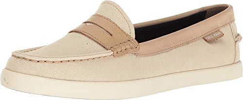 Cole Haan Women's Nantucket Loafer II Sandshell Canvas/Barley Leather Loafer by Cole Haan