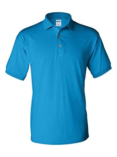 Straight Bottom Polo Top - Gildan mens DryBlend 6 oz. 50/50 Jersey Polo(G880)-SAPPHIRE-3XL