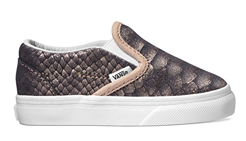 Vans Classic Slip-On (Metallic Snake) Snake/Rose Gold - Kid Snake Girl Sneaker