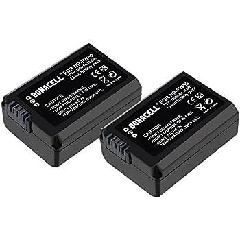 Bonacell 2 Pcs 1500mAh Replacement Sony NP-FW50 Battery for Sony Alpha a6300, a6000, a7s, a7, a7s ii, a7r ii, a5100, a5000, a7r, a7 ii, NEX-3, 5, 6, 7, C3 and Cyber-shot DSC-RX10 Digital Camera