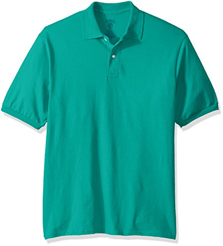 Jerzees Men's Spot Shield Short Sleeve Polo Sport Shirt, Jade, 4X-Large by Jerzees