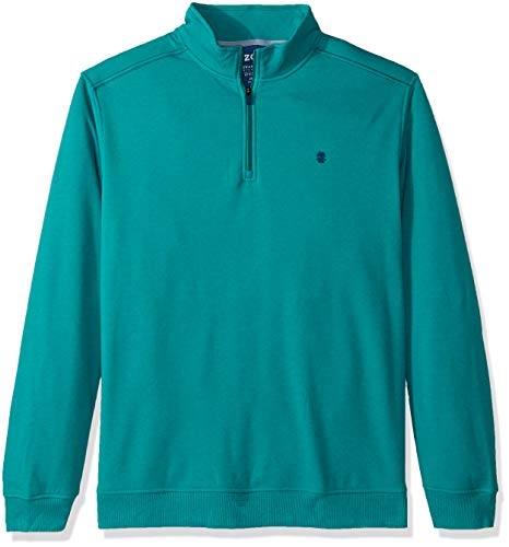 (IZOD Men's Big and Tall Advantage Performance Quarter Zip Fleece Pullover, Teal Blue, 3X-Large)