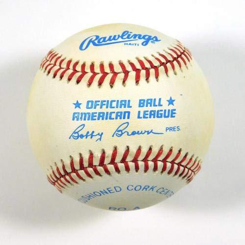 Baseball-mlb Balls White Sox Robin Ventura Signed Oal Autograph Bobby Brown Rookie 1989 Baseball C