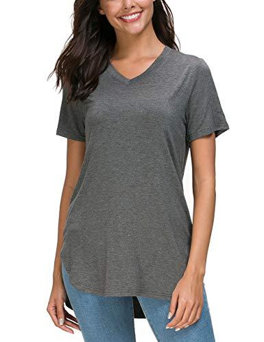 Herou Short Sleeve Casual V-Neck T-Shirt Tops for ()