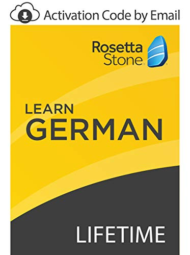 Software : Rosetta Stone: Learn German with Lifetime Access on iOS, Android, PC, and Mac - mobile & online access [PC/Mac Online Code]