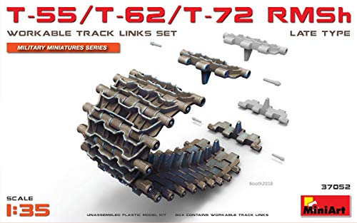 MiniArt 37052 T-55,T-62,T-72 RMSh WORKABLE Track Links Set Late Type 1/35 Scale