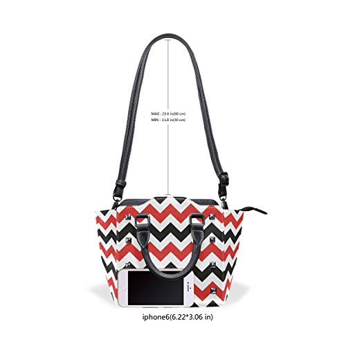 Superiore Donne Coosun Medio Crossbody Pu Pelle Tracolla Maniglia In Colorati Pulivetro Chevron Multicolore Borsa 61xwHC6