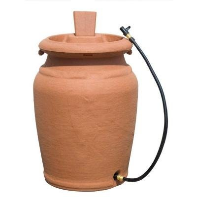 Urn Rain (50 Gallon Terra Cotta Granite Urn Style Rain Barrel with Planter)