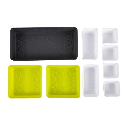 Core Kitchen 9-Piece Drawer Organizer Set, Yellow/Multi (Multi Polypropylene Stack)