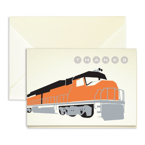 "Train Thank You Cards - Pack of 25-5"" x 3.5"""